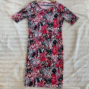 LULAROE Julia Dress Sz M, Beautiful Colors!